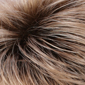 Estetica Wigs | R20RT8 Light Auburn / Golden Blonde Frost with Golden Brown Roots