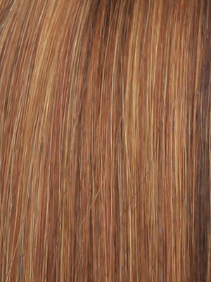 Raquel Welch Wigs | R28S+ GLAZED FIRE | Fiery Red with Bright Red Highlight on Top