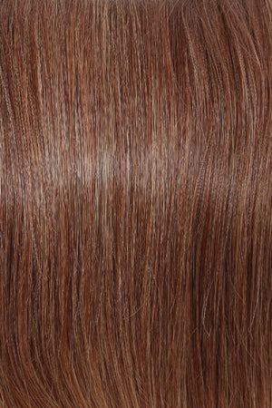 Raquel Welch Wigs | R3025S+ GLAZED CINNAMON | Medium Auburn with Ginger Blonde Highlights on Top