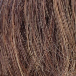 Estetica Wigs | R32/33/40F | Dark Brown Dark Auburn With Medium Golden Blonde Frost