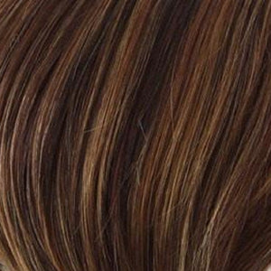 Raquel Welch Wigs | R3329S GLAZED AUBURN | Rich Dark Auburn with Pale Ginger Blonde Highlights