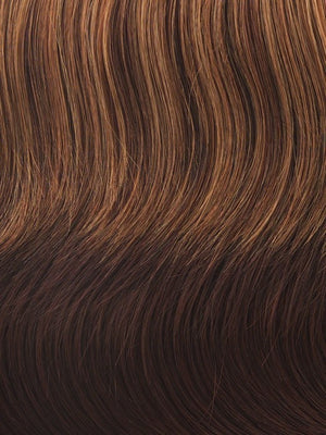 Gabor Wigs - Color R3329S+ GLAZED AUBURN (Rich Dark Reddish Brown with Pale Peach Blonde highlights)