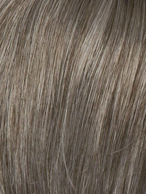 R388G GRADIENT SMOKED WALNUT Light Brown with 80% gray on top gradually fading to a 50 50 Blend of Light Brown and Gray towards the nape