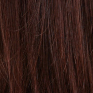 Estetica Wigs | R4/33H | Dark Brown with Dark Auburn Highlights
