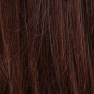 Estetica Wigs - R4/33H | Dark Brown/ Dark Auburn Highlights
