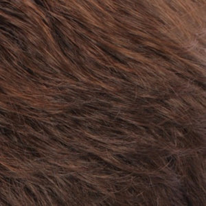 Estetica Wigs | R6LF29 | Chestnut Brown Lightening to Bright Red Mix in Fron