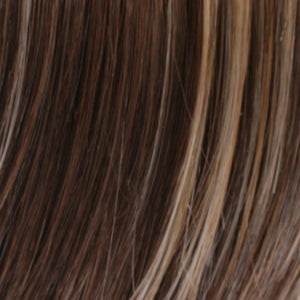 Estetica Wigs | R8/26H Golden Brown with Golden Blonde Highlights