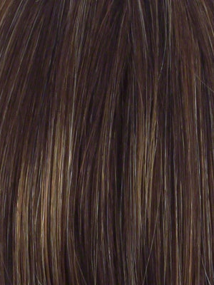 Hairdo Wigs - Color R829S+ GLAZED HAZELNUT - Medium Brown with Ginger highlights on top