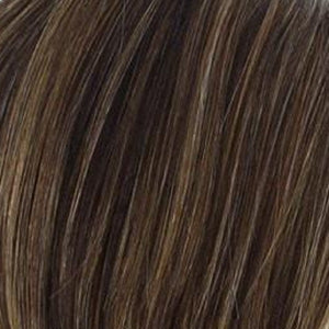 Raquel Welch Wigs | R829S GLAZED HAZELNUT | Rich Medium Brown with Ginger Highlights on Top