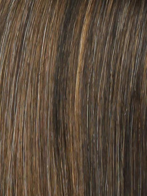 Raquel Welch Wigs | R829S GLAZED HAZELNUT Rich Medium Brown with Ginger Highlights on Top