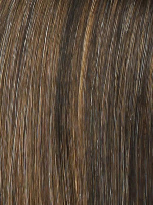 Raquel Welch Wigs | R829S+ GLAZED HAZELNUT | Rich Medium Brown with Ginger Highlights on Top