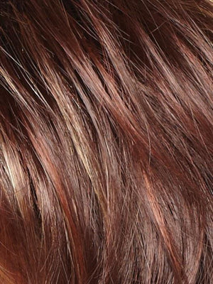 Noriko Wigs | RAZBERRY ICE R | Rooted Dark Auburn with Medium Auburn Base with Copper and Strawberry Blonde Highlights