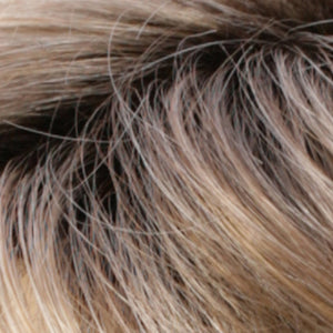 Estetica Wigs | RH12/26RT4 Light Brown with Chunky Golden Blonde Highlights & Dark Brown Roots