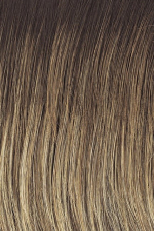 RL12/22SS SHADED CAPPUCCINO | Light Golden Brown Evenly Blended with Cool Platinum Blonde Highlights and Dark Roots