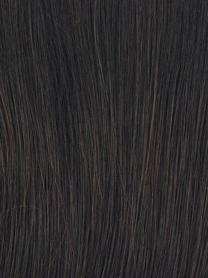 RL2/4 OFF BLACK | Black Evenly Blended with Dark Brown Highlights