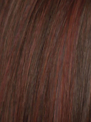 Raquel Welch Wigs | RL33/35 DEEPEST RUBY | Dark Auburn Evenly Blended with Ruby Red