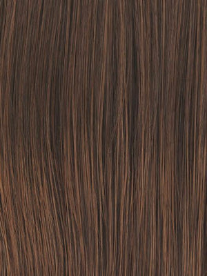 Raquel Welch Wigs | RL6/30 | Copper Mahogany | Dark Brown with soft, coppery highlights