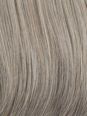 Raquel Welch Wigs | RL119 | Silver & Smoke	Light Brown with 80% Gray in front  gradually blended into  50% Gray in nape area