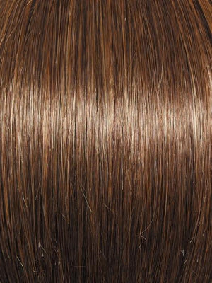 Raquel Welch Wigs | R9F26 MOCHA FOIL | Warm, Medium Brown With Gold Highlights Around the Face