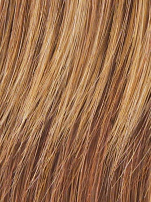 R29S+ - Glazed Strawberry - Light Red With Golden Blonde Highlights