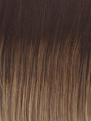 Raquel Welch Wigs | SS12/22 CAPPUCCINO | Light Golden Brown With Cool Blonde Highlights All Over, Dark Brown Roots