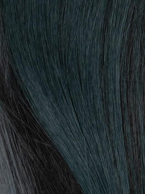 Rene of Paris Wigs | Cosmic Teal | Dark brown base mixed with teal
