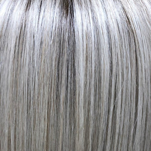 Belle Tress Wigs | Roca Margarita Blonde | A blend of silver, pure, ash and coconut blondes with soft, cool medium and light brown root.