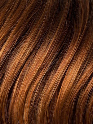 Ellen Wille Wigs | SAFRAN-RED-ROOTED Dark Copper Red Copper Red and Light Copper Red blend with Dark Roots