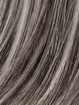 Ellen Wille Wigs | SALT-PEPPER-ROOTED Light Natural Brown with 75% Gray Medium Brown with 70% Gray and Pure White Blend with Dark Roots