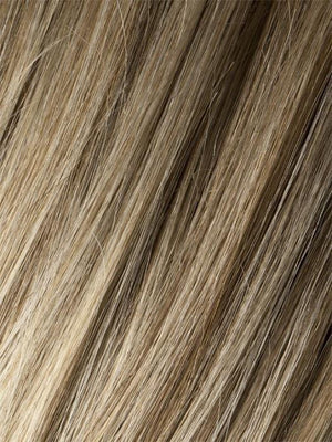 Ellen Wille Wigs | SANDY-BLONDE-ROOTED Medium Honey Blonde Light Ash Blonde and Lightest Reddish Brown blend with Dark Roots