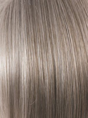 Rene of Paris Wigs | SANDY SILVER | Silver Medium Brown blend that transitions to more Silver then Medium Brown then to Silver Bangs