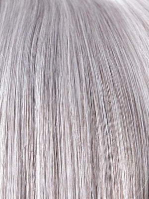SILVER-STONE | Silver Medium Brown blend that transitions to more Silver then Medium Brown then to Silver Bangs
