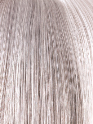 Rene of Paris Wigs | SILVER-STONE | Silver Medium Brown blend that transitions to more Silver then Medium Brown then to Silver Bangs