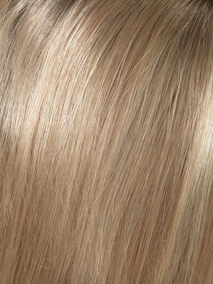Envy Wigs | SPARKLING CHAMPAGNE | Medium Brown roots with overall Strawberry Blonde base and soft Golden Blonde highlights