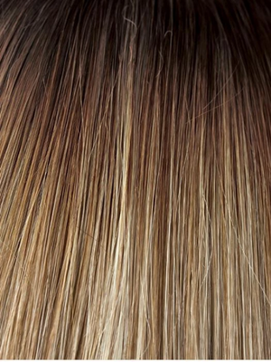 SPRING-HONEY-LR | Rooted Honey Blonde and Gold Platinum Blonde blend with Longer Roots