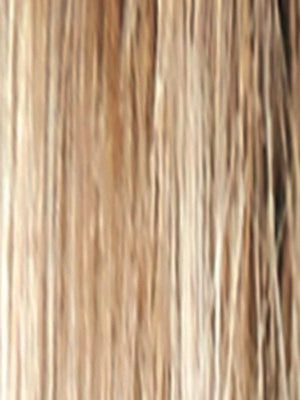 SPRING-HONEY-R | Medium Brown Rooted with Honey Blonde and Gold Platinum Blonde 50/50 blend