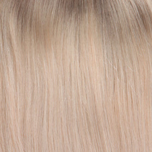 BelleTress Topper | Champagne Apple Pie (14R/16/613/103)  Light brown blonde root with mixture of ash blonde, lightest blonde, pure blonde and light neutral blonde