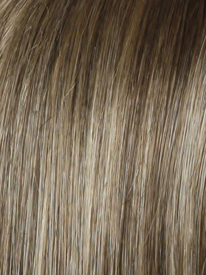 SS12 22 SHADED CAPPUCCINO Light Golden Brown Evenly Blended with Cool Platinum Blonde Highlights and Dark Roots