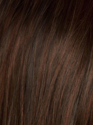 Raquel Welch Wigs | SS130 SHADED DARK COPPER | Bright Reddish Brown with Subtle Copper Highlights with Dark Roots