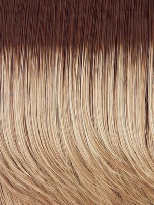 SS14/88 SHADED GOLDEN WHEAT | Medium Blonde streaked with Pale Gold highlights Medium Brown roots