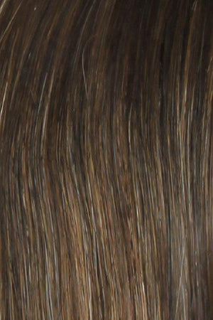 Raquel Welch Wigs | SS8/29 SHADED HAZELNUT | Rich Medium Brown Evenly Blended with Ginger Blonde Highlights with dark roots