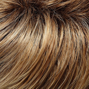 Jon Renau Wigs | 27T613S8 | Medium Red-Gold Blonde and Pale Natural Gold Blonde Blend, Shaded with Medium Brown
