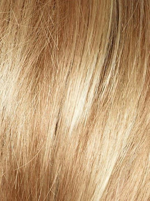 SUGAR CANE Platinum Blonde and Strawberry Blonde Evenly Blended Base with Light Auburn Highlights