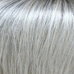 BelleTress Wigs | Silver Needle | A unique blend of silver, platinum pearl and oat-ash blonde over taupe roots, multitoned and lighter at the tips