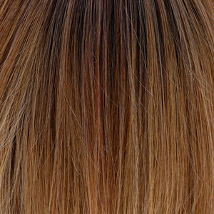 BelleTress Wigs | Sugar Cookie with Hazelnut | 6R/144/88B | Rich dark chocolate rooting with a blend of golden blonde, honey blonde, natural medium blonde, and pure blonde highlights