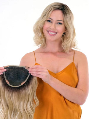 "Belle Tress Wigs | 14"" Premium 100% Hand Made Wave Topper"