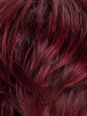 WILD CHERRY ROOTED | Dark brown base dark burgundy Red and Bright Cherry Blend with Darker Roots