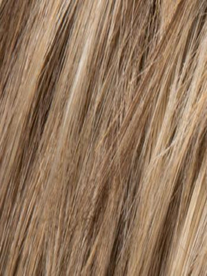 Ellen Wille Wigs | Dark Sand Rooted | Light Brown base with  Lighest Ash Brown and Medium Honey Blonde blend and Dark Roots