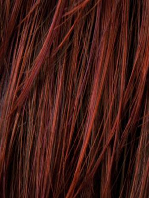 Ellen Wille Wigs | Hot Chili Mix | Dark Copper Red, Dark Auburn, and Darkest Brown blend