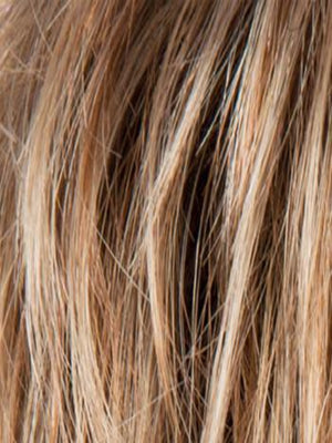 Ellen Wille Wigs | Light Bernstein R | Light Auburn, Light Honey Blonde, and Light Reddish Brown blend and Dark Roots